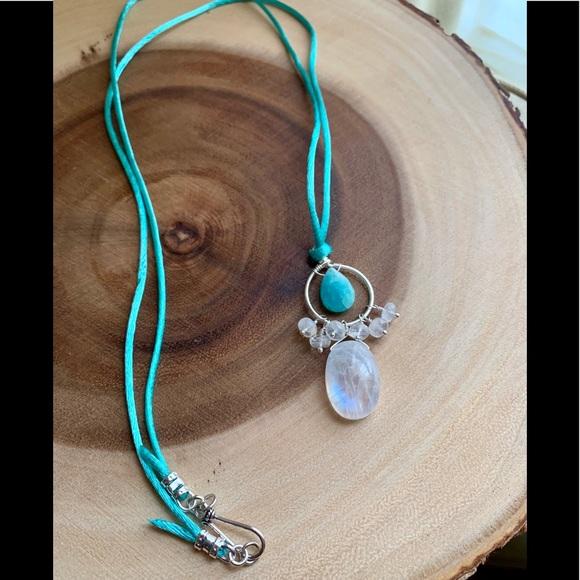 Jewelry - Moonstone & Amazonite Pendant Necklace